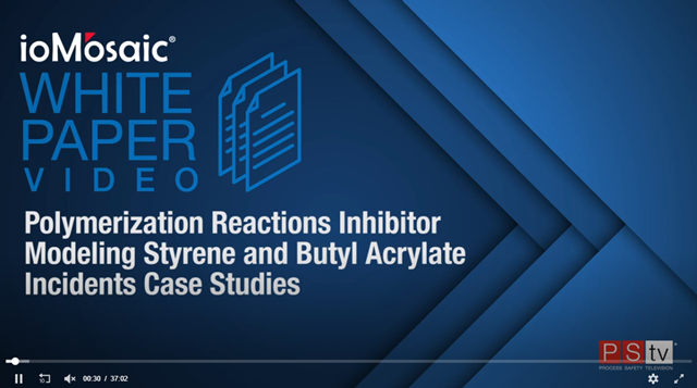 Polymerization Reactions Inhibitor Modeling White Paper Video