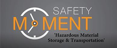 HazardousMaterialStorageandTransportationSafetyMoment
